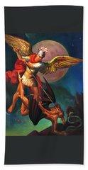Saint Michael The Warrior Archangel Hand Towel