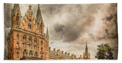 London, England - Saint Pancras Station Hand Towel