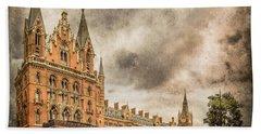 London, England - Saint Pancras Station Bath Towel