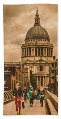 London, England - Saint Paul's In The City Hand Towel