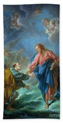 Saint Peter Invited To Walk On The Water Hand Towel
