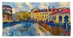 Saint Petersburg Winter Scape Bath Towel