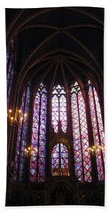 Sainte-chapelle Hand Towel by Christopher Kirby
