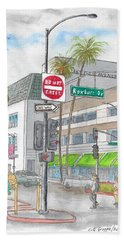 Saks Fth Avenue In Wilshire Bvd., Beverly Hills, California Hand Towel