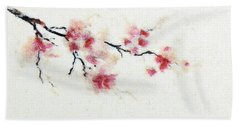 Sakura Branch Bath Towel