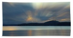 Salish Sea Sunrise - 365-350 Bath Towel by Inge Riis McDonald