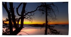 Hand Towel featuring the photograph Salish Sunrise by Randy Hall