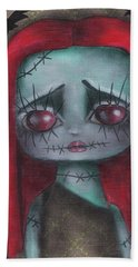 Sally Girl Hand Towel by Abril Andrade Griffith