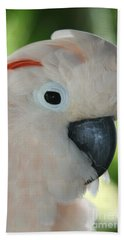 Salmon Crested Moluccan Cockatoo Hand Towel