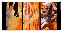 Salmon Gum Tree Triptych Hand Towel