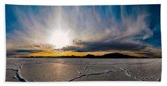 Salt Flats Sunset Bath Towel