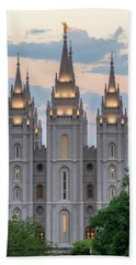 Salt Lake City Temple Morning Hand Towel by Dustin  LeFevre