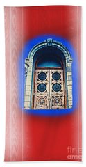 Salt Lake Temple Doors 1 Hand Towel by Richard W Linford