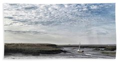 Salt Marsh And Creek, Brancaster Bath Sheet by John Edwards