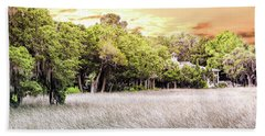 Salt Marsh Panorama Bath Towel