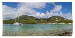Hand Towel featuring the photograph Salt Pond Bay Panoramic by Adam Romanowicz