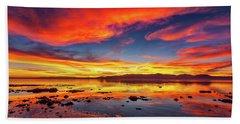 Salton Sea Sunset Hand Towel