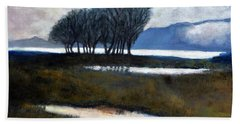 Salton Sea Trees Bath Towel