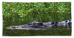 Saltwater Crocodile In Kakadu Bath Towel