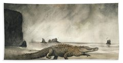 Saltwater Crocodile Hand Towel
