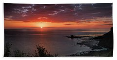 Saltwick Bay Sunrise  Bath Towel by David  Hollingworth