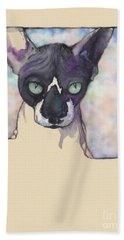Sam The Sphynx Bath Towel