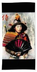 Samurai 1898 With Iron Fan Hand Towel
