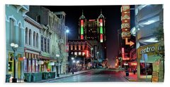 Hand Towel featuring the photograph San Antonio Alight by Frozen in Time Fine Art Photography