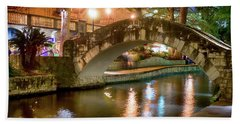 San Antonio River Walk V1 Bath Towel