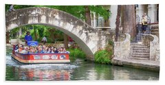San Antonio River Walk V2 Bath Towel