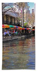 San Antonio Riverwalk Bath Towel by Angela Murdock