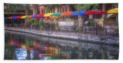 San Antonio Riverwalk Colors Hand Towel
