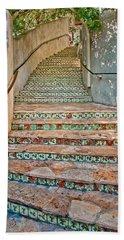 San Antonio Riverwalk Stairway Bath Towel by David and Carol Kelly