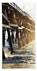 Hand Towel featuring the photograph San Clemente Pier Magic Hour by Kyle Hanson
