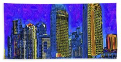 San Diego In Abstract Hand Towel