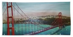 San Francisco And The Golden Gate Bridge Hand Towel