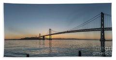 San Francisco Bay Brdige Just Before Sunrise Bath Towel