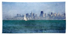 San Francisco Bay Hand Towel by Serena King