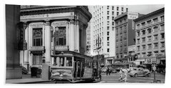 San Francisco Cable Car During Wwii Bath Towel