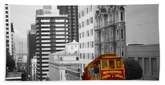 San Francisco - Red Cable Car Hand Towel