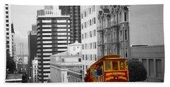 San Francisco Cable Car - Highlight Photo Hand Towel