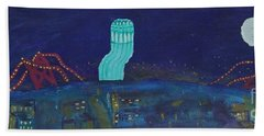 San Francisco Coit Tower Abstract Bath Towel