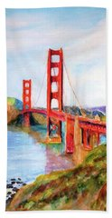San Francisco Golden Gate Bridge Impressionism Hand Towel
