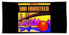 San Francisco Oranges Hand Towel by Peter Gumaer Ogden