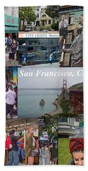 Hand Towel featuring the photograph San Francisco Poster by Joan Reese