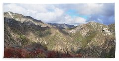 San Gabriel Mountains National Monument Hand Towel by Kyle Hanson