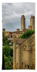 San Gimignano Bath Towel by Jean Haynes