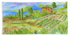Vineyard At San Gimignano Bath Towel