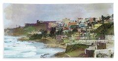 Hand Towel featuring the photograph San Juan By The Ocean by John Rivera