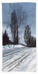 San Juan Snow Bath Towel by Laurie Stewart